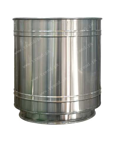 plant-pot-planter-stainless-steel-non-magnet-grooved