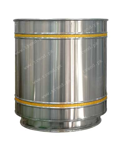 plant-pot-stainless-steel-decorated-with-grooves-and-pure-brass-strips-hand-crafted-planter-1